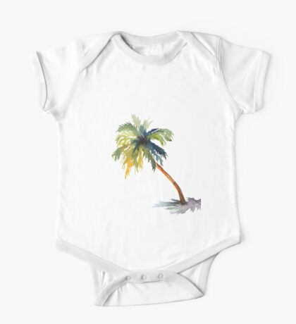 Palm Tree One Piece - Short Sleeve