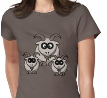 goats Womens Fitted T-Shirt