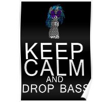 Vinyl Scratch - Keep Calm Drop Bass Typography Poster