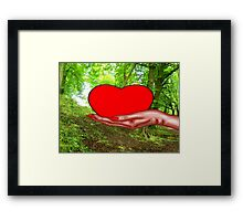 HEART OF NATURE Framed Print