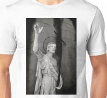 Beautiful old stone religious statue of Jesus Unisex T-Shirt