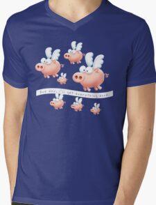 Pigs might fly Mens V-Neck T-Shirt
