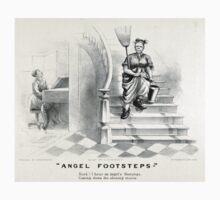 Angel footsteps - Currier & Ives - 1878 Kids Tee