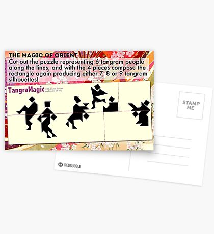 The Magic Tangram Puzzle Postcards