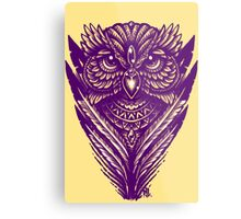 Hand Inked Night Owl Variant Metal Print