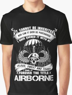 airborne infantry mom airborne jump wings airborne badge airborne brot Graphic T-Shirt