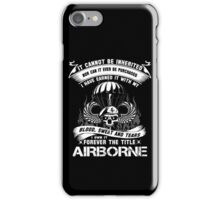 airborne infantry mom airborne jump wings airborne badge airborne brot iPhone Case/Skin