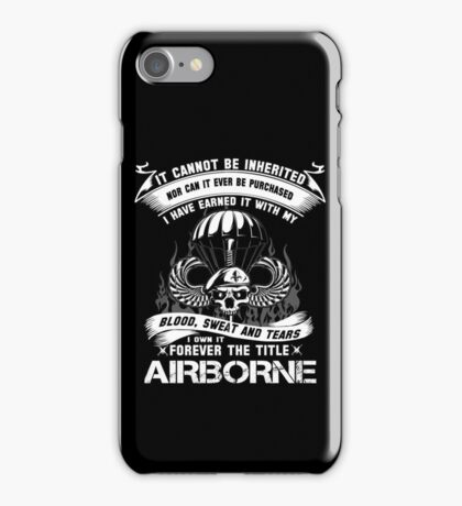 airborne infantry mom airborne jump wings airborne badge airborne brot iPhone Case/Skin