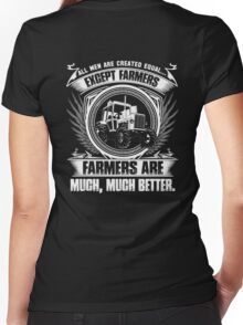 stupid farmer Bird farmer mom piglet farmer farmer wave farmer kids fa Women's Fitted V-Neck T-Shirt
