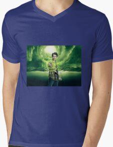 Saving The World - Nathan Mens V-Neck T-Shirt