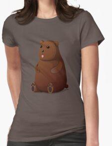 Cute Goofy Stuffed Teddy Brown Bear Womens Fitted T-Shirt