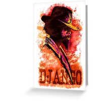 Django Unchained Greeting Card