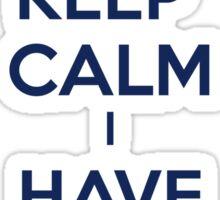 Keep Calm I Have A Tardis Sticker