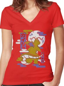 Pokemon Charixad Women's Fitted V-Neck T-Shirt