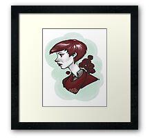 Mint & Rose Framed Print