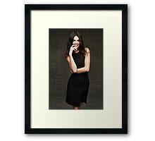 Kendall Jenner Smile Framed Print