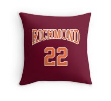 Timo Cruz 22 Richmond Oilers Home Basketball Shirt  Throw Pillow