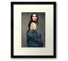 Kendall Jenner Glance Back Framed Print
