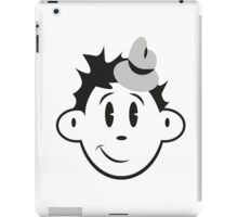 Vintage Black and White Cartoon Character iPad Case/Skin