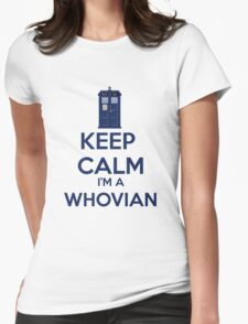 Keep Calm i'm a whovian Womens Fitted T-Shirt