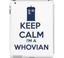 Keep Calm i'm a whovian iPad Case/Skin