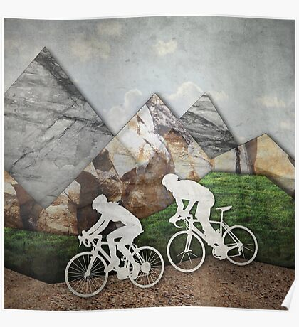 Biking Couple Poster