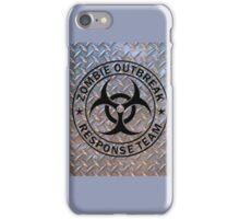 Zombie Outbreak Response Team on Diamond Plate iPhone Case/Skin
