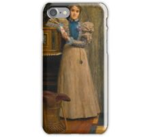 Sir Lawrence Alma-Tadema, O.M., R.A.  PORTRAIT OF CLOTHILDE ENID, DAUGHTER OF EDWARD ONSLOW FORD iPhone Case/Skin