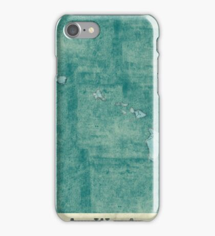 Hawaii State Map Blue Vintage iPhone Case/Skin