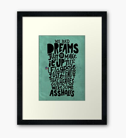 J. Cole - Heroes Are Assholes Framed Print