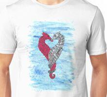 Loveheart Seahorses Unisex T-Shirt