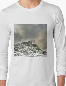 Ominous Clouds Over Beacon Hill, Leicestershire. Long Sleeve T-Shirt