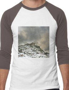 Ominous Clouds Over Beacon Hill, Leicestershire. Men's Baseball ¾ T-Shirt