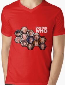 Doctor Who: 50 Years of Time and Space Mens V-Neck T-Shirt