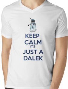Keep Calm It's just a dalek Mens V-Neck T-Shirt