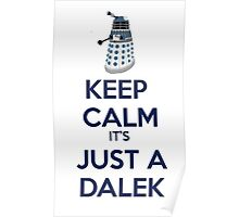 Keep Calm It's just a dalek Poster