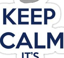 Keep Calm It's just a dalek Sticker