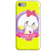 "Cute little bunny gil ""I LOVE YOU"" iPhone Case/Skin"
