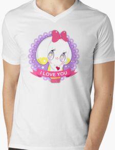 "Cute little bunny gil ""I LOVE YOU"" Mens V-Neck T-Shirt"