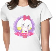 "Cute little bunny gil ""I LOVE YOU"" Womens Fitted T-Shirt"