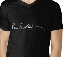 Paul Mccartney autograph Mens V-Neck T-Shirt