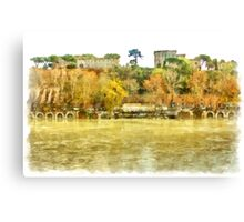 Rome: Tiber River urban landscape Canvas Print