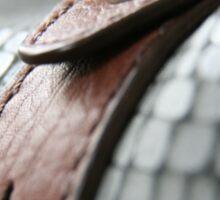 Blue leather II Sticker