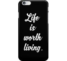 Life Is Worth Living - Justin Bieber - Purpose iPhone Case/Skin