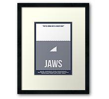 Jaws film poster Framed Print