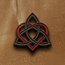 Celtic Knotwork Valentine Heart Wood Texture 2 by Brian Carson