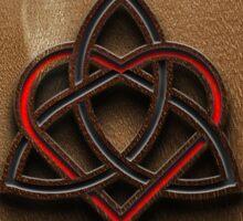 Celtic Knotwork Valentine Heart Wood Texture 2 Sticker