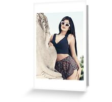 Kylie Jenner Statue Greeting Card