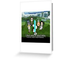 I dont want to adult today Greeting Card