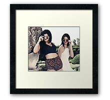 Kendall and Kylie Jenner Shades Framed Print